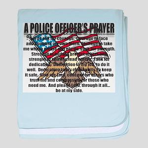 POLICE OFFICER'S PRAYER baby blanket
