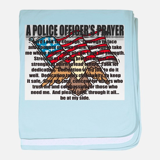 POLICE OFFICER'S PRAYER baby blanket