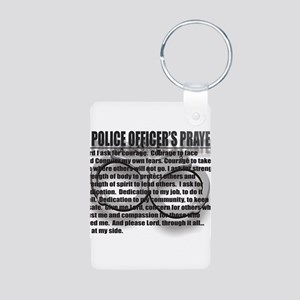 A POLICE OFFICER'S PRAYER Aluminum Photo Keychain
