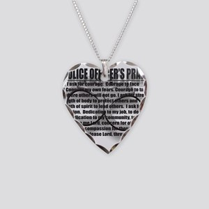 A POLICE OFFICER'S PRAYER Necklace Heart Charm