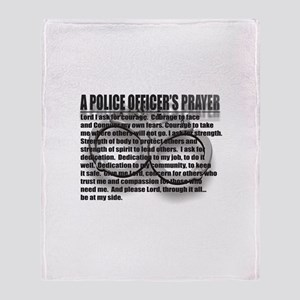 A POLICE OFFICER'S PRAYER Throw Blanket