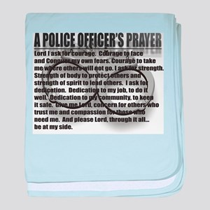 A POLICE OFFICER'S PRAYER baby blanket
