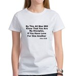 Jesus: My Disciples Love Others Women's T-Shirt
