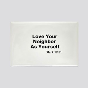 Jesus & Caring For Others Rectangle Magnet