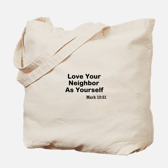 Jesus & Caring For Others Tote Bag