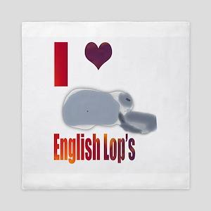 I love English Lops Queen Duvet
