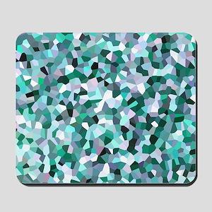 Turquoise Mosaic Pattern Mousepad