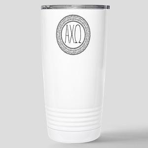 AlphaChiOmega Med 16 oz Stainless Steel Travel Mug
