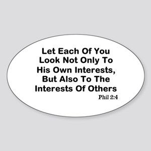 Interests Of Others Sticker (Oval)