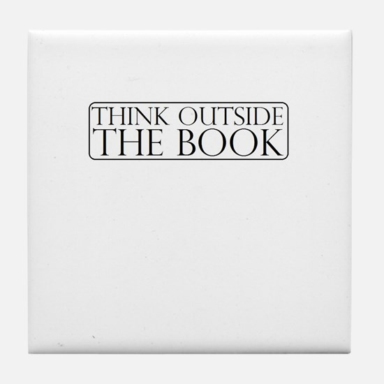 Think Outside The Book Tile Coaster