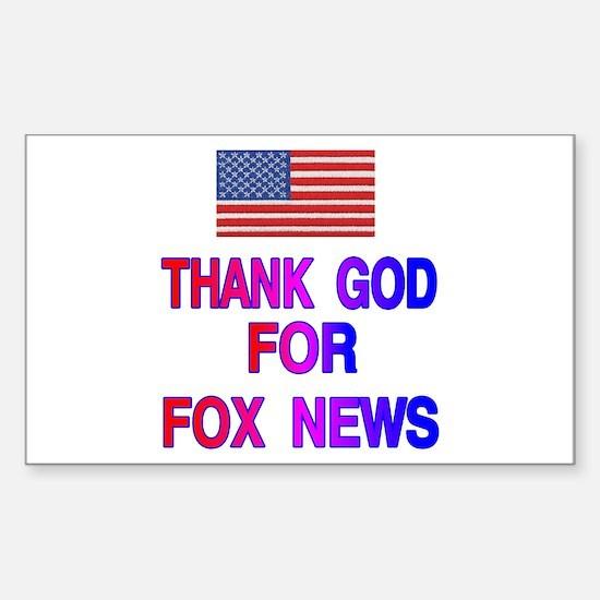 FOX NEWS Sticker (Rectangle)