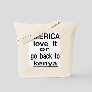 GO BACK KENYA Tote Bag