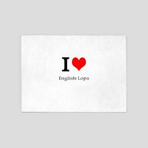 I love English Lops 5'x7'Area Rug