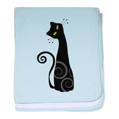 Whimsical Cat baby blanket