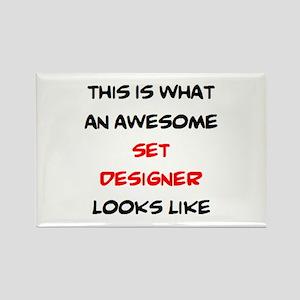 awesome set designer Rectangle Magnet