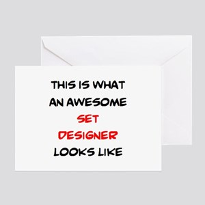 awesome set designer Greeting Card