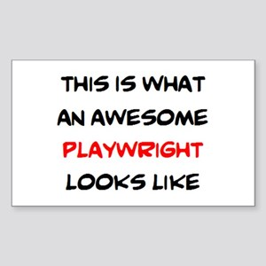 awesome playwright Sticker (Rectangle)