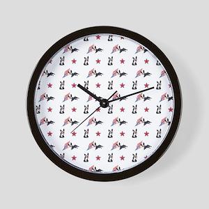 PATRIOTIC PUP Wall Clock