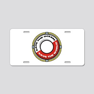 Save The Ocean Aluminum License Plate