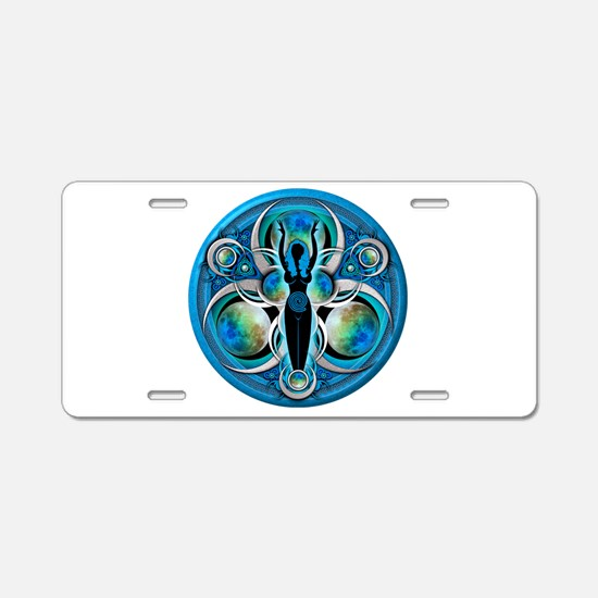 Goddess of the Blue Moon Aluminum License Plate