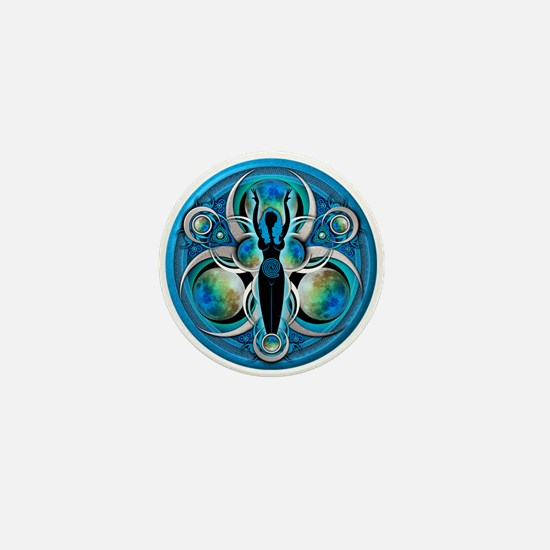 Goddess of the Blue Moon Mini Button