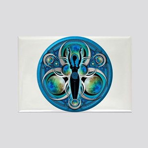Goddess of the Blue Moon Rectangle Magnet