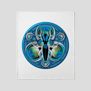 Goddess of the Blue Moon Throw Blanket