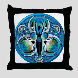 Goddess of the Blue Moon Throw Pillow