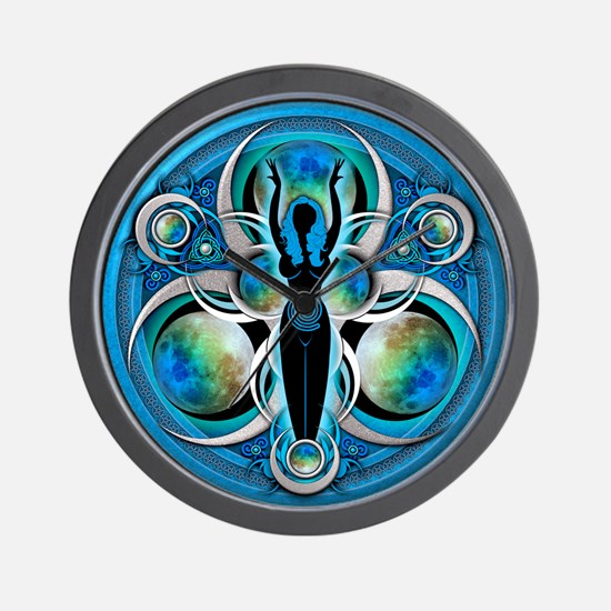Goddess of the Blue Moon Wall Clock