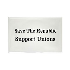 Save Unions Rectangle Magnet (100 pack)