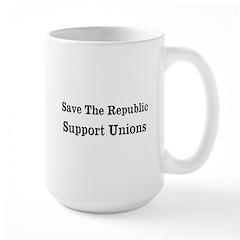 Save Unions Large Mug