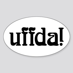 uffda Oval Sticker