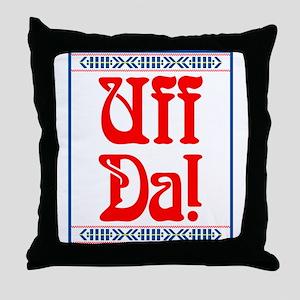 Uff Da Throw Pillow