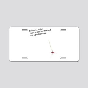 Richard Castle... Aluminum License Plate