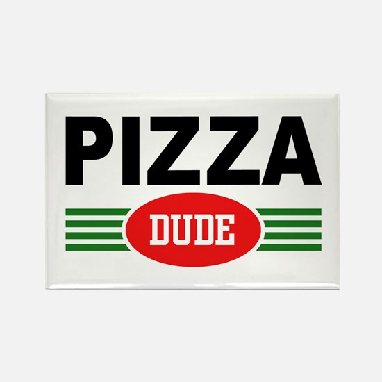 Pizza Dude Rectangle Magnet