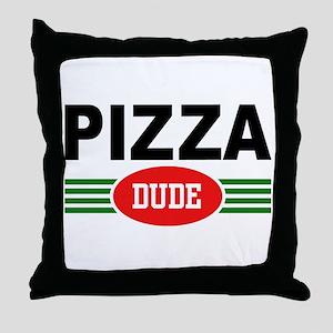 Pizza Dude Throw Pillow