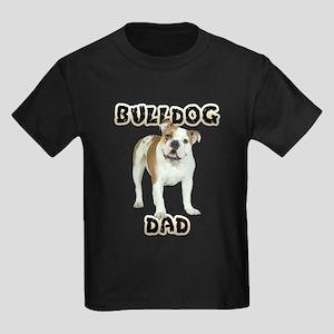 Bulldog Dad Kids Dark T-Shirt