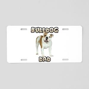 Bulldog Dad Aluminum License Plate