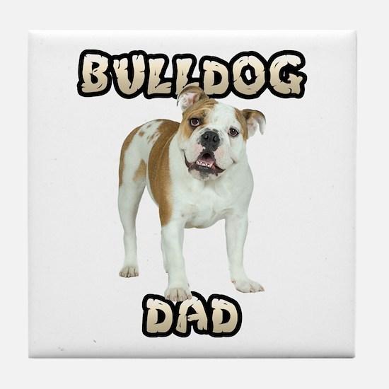 Bulldog Dad Tile Coaster
