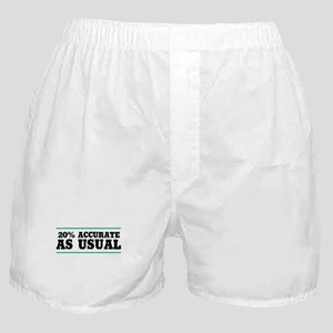 20 Percent Accurate Boxer Shorts