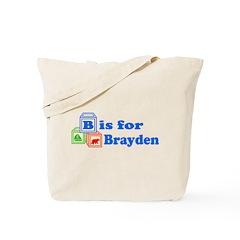 Baby Name Blocks - Brayden Tote Bag