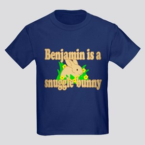 Benjamin is a Snuggle Bunny Kids Dark T-Shirt