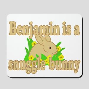 Benjamin is a Snuggle Bunny Mousepad