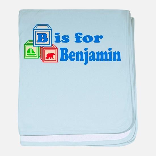 Baby Blocks Benjamin baby blanket