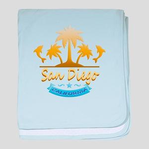 San Diego Dolphins Ocean baby blanket