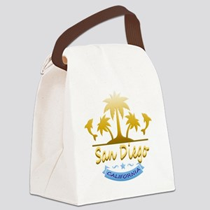 San Diego Dolphins Ocean Canvas Lunch Bag
