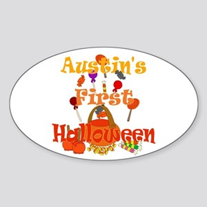 First Halloween Austin Sticker (Oval)