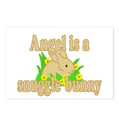 Angel is a Snuggle Bunny Postcards (Package of 8)