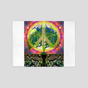 World Peace, Give Peace a Chance 5'x7'Area Rug