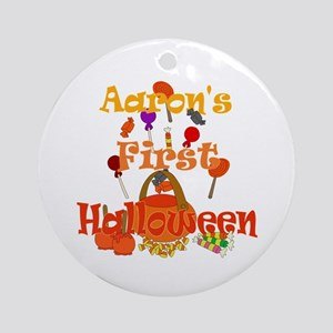 First Halloween Aaron Ornament (Round)